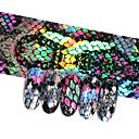voordelige Nagelfoliepapier-16 stks snake ontwerp nail folies holografische sterrenhemel foil transfer sticker 20 * 4 cm manicure nail art decals