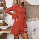 preiswerte Tanzkleidung für Balltänze-Damen Anspruchsvoll Elegant A-Linie Hülle Kleid - Rüsche, Solide Übers Knie