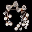 povoljno Moderni broševi-Žene Broševi Mašnice Stilski Imitacija bisera Broš Jewelry Zlatan Za Dnevno