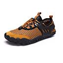 hesapli Erkek Atletik Ayakkabıları-Erkek Ayakkabı PU Yaz Atletik Ayakkabılar Dağ Yürüyüşü Dış mekan için Koyu Mavi / Gri / Sarı