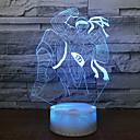 hesapli 3D Gece Işıkları-Kör keşiş wholes gece lambası lamba fantezi stereo 3d hediye seti renk değişimi baz beyaz güzel 7 3d ışık fikstür