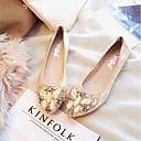 זול נעלים שטוחות לנשים-בגדי ריקוד נשים שטוחות שטוח PU קיץ & אביב זהב / שחור / כסף
