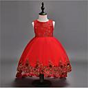זול הלבשה לריקודי בלט-נשף א-סימטרי שמלה לנערת הפרחים  - כותנה / פולי / טול ללא שרוולים עם תכשיטים עם ריקמה על ידי LAN TING Express
