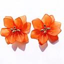 זול עגילים אופנתיים-בגדי ריקוד נשים עגילים צמודים פרח מסוגנן שרף עגילים תכשיטים לבן / כתום / כחול עבור יומי זוג 1