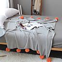 זול תכשיטי גוף-שמיכות מיטה / סופה לזרוק, אחיד / פשוט / קלאסי כותנה חם יותר נוח רך מאוד סמיך