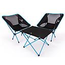 זול ריהוט למחנאות-BEAR SYMBOL קמפינג מתקפל שולחן עם כיסאות נייד נגד החלקה קל במיוחד (UL) מתקפל בד אוקספורד 7075 אלומיניום רשת 2 כסאות 1 לוח ל דיג קמפינג סתיו אביב פול