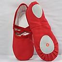 זול סנדלים לילדים-בנות נעלי ריקוד קנבס נעלי בלט שטוחות שטוח לבן / אדום / ורוד / הצגה / אימון
