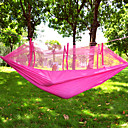 cheap Camping Furniture-Camping Hammock with Mosquito Net Outdoor Portable Lightweight Breathable Parachute Nylon with Carabiners and Tree Straps for 2 person Camping / Hiking / Caving Outdoor Travel Jacinth +Gray Pink+Blue