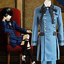 halpa Anime-asut-Innoittamana Black Butler Ciel Phantomhive Anime Cosplay-asut Japani Cosplay Puvut Yhtenäinen Pitkähihainen Solmio / Pusero / Toppi Käyttötarkoitus Miesten