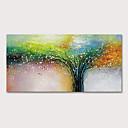 povoljno Apstraktno slikarstvo-Hang oslikana uljanim bojama Ručno oslikana - Cvjetni / Botanički Apstraktni pejsaži Moderna Bez unutrašnje Frame