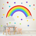 halpa Seinätarrat-sateenkaaren tähti seinätikkuja lastentarha makuuhuone olohuone lasten huone itsekiinnittyvä paperi tapetti koriste seinä tarroja - kone seinä tarroja asetelma lasten huone / lastentarha