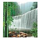 halpa Ikkunoiden verhot-kiinalainen tyyli korkean tarkkuuden materiaali taide verhot täysi varjostus vedenpitävä kosteutta suojaava suihkuverho paksuuntunut puhdas polyesteri kotitalouksien WC-taustaverhot