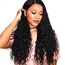 זול פיאות תחרה משיער אנושי-שיער אנושי תחרה מלאה פאה חלק צד בסגנון שיער ברזיאלי Water Wave שחור פאה 130% צפיפות שיער נשים בגדי ריקוד נשים ארוך פיאות תחרה משיער אנושי Clytie