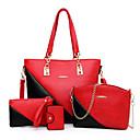 povoljno Komplet torbi-Žene Patent-zatvarač / Lanac PU Bag Setovi Color block 4 kom Braon / Blushing Pink / Red / Jesen zima