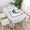 זול כיסויי שולחן-יום יומי כותנה ריבוע כיסויי שולחן פרחוני מעוטר עמיד במים לוח קישוטים