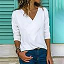 povoljno Stare svjetske nošnje-Veći konfekcijski brojevi Majica s rukavima Žene Jednobojni V izrez Blushing Pink