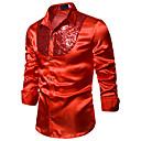 levne Kostýmy na latinu-Pánské - Jednobarevné Základní Košile, Flitry Modrá / Červená Černá