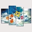 זול הדפסים-דפוס הדפסי בד מגולגל - טבע ושטח שמיימי קלסי מודרני ארבעה פנלים הדפסים אמנותיים