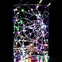 halpa LED-hehkulamput-10 m merkkivalot 100 ledit lämmin valkoinen valkoinen sininen vedenpitävä koristeellinen kuparilanka hopea linja aa paristot toimivat 1kpl