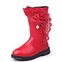 זול Kids' Flats-בנות נוחות מיקרופייבר מגפיים ילדים גדולים (7 שנים +) פפיון אדום / ורוד / Wine חורף / מגפיים באורך אמצע - חצי שוק