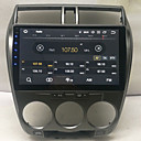 Недорогие DVD плееры для авто-10,2-дюймовый Android 8,0 2 г 16 г четырехъядерный GPS-навигатор с сенсорным экраном автомобиля MP5-плеер для Honda City 2008-2012