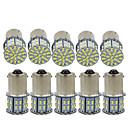 זול אורות בלימה-10pcs 1,156 / 1,157 מכונית נורות תאורה SMD 3014 50 LED תאורת איתות / אורות בלימה / היפוך (גיבוי) האורות עבור אוניברסלי כל השנים