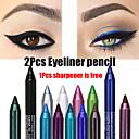 hesapli Göz Farları-2 adet renkli pigment uzun ömürlü su geçirmez eyeliner kalem moda göz makyaj kozmetik