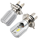 זול חלקים לאופנועים וג'יפונים-1pcs H4 / BA20D אופנוע נורות תאורה COB LED אורות ערפל / פנס ראש עבור אופנועים כל השנים
