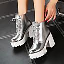povoljno Ženske čizme-Žene Čizme Kockasta potpetica Okrugli Toe PU Čizme gležnjače / do gležnja Vintage / Uglađeni Jesen zima Zlato / Pink
