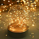 halpa LED-hehkulamput-LOENDE 5m Koristevalot 50 LEDit Lämmin valkoinen / RGB / Valkoinen Party / Koristeltu / Häät Akut viritettyinä