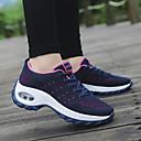 hesapli Kadın Atletik Ayakkabıları-Kadın's Atletik Ayakkabılar Dolgu Topuk Yuvarlak Uçlu Örgü Sportif / Günlük Koşu / Dağ Yürüyüşü İlkbahar & Kış Siyah / Kırmzı / Koyu Mavi