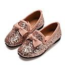 זול Kids' Flats-בנות נעליים לילדת הפרחים PU שטוחות ילדים קטנים (4-7) פפיון / נצנצים שחור / כסף / ורוד קיץ