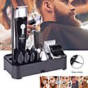 Недорогие Удаление волос-5 в 1 многофункциональный электрический машинка для стрижки волос триммер для бороды аккумуляторная эпилятор водонепроницаемый нос волосы устройства