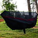 hesapli Kamp Mobilyaları-Cibinlikli Kamp Hamağı Açık hava Hızlı Kurulama Modellendirme Esnek ayarlanabilir Kenevir Halatı Naylon Karabina ve Ağaç Askıları için 2 kişi Siyah 280*145 cm