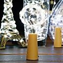 זול כלים לאפייה-1m חוטי תאורה 8 נוריות לבן חם דקורטיבי סוללות AA 1pc