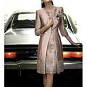 זול חזיות ספורט-עד הברך תחרה, פרחוני - שמלה נדן שני חלקים רזה סאטן אלגנטית בגדי ריקוד נשים