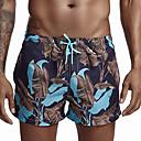 זול חליפות רטובות,חליפות צלילה וחולצות ראש-גארד-בגדי ריקוד גברים מכנסי שורט בגדי ים אלסטיין תחתיות הגנה מפני השמש UV ייבוש מהיר שחייה גלישה ציור קיץ
