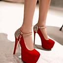 povoljno Ženske cipele s petom-Žene Cipele na petu Stiletto potpetica Okrugli Toe Šljokice Sintetika Jesen Crn / Crvena / Plava