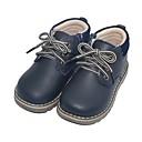 זול סנדלים לילדים-בנים מגפיי קרב עור מגפיים ילדים קטנים (4-7) צהוב / כחול סתיו / מגפיים באורך אמצע - חצי שוק