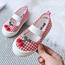 זול סנדלים לילדים-בנות נעליים לילדת הפרחים קנבס שטוחות ילדים קטנים (4-7) לבן / צהוב / ורוד סתיו