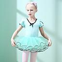 povoljno Odjeća za balet-Balet Haljine Djevojčice Trening / Seksi blagdanski kostimi Pamuk / Elastan Drapirano padajuće Kratkih rukava Haljina
