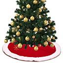 זול חוט נורות לד-קישוטים לחג המולד חג המולד בד כותנה עגול סרט מצויר קישוט חג המולד