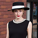 povoljno Kentucky Derby Hat-100% vuna kape s Vezanje 1pc Kauzalni / Dnevni Nosite Glava