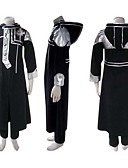 cheap Wedding Wraps-Inspired by D.Gray-man Allen Walker Anime Cosplay Costumes Japanese Cosplay Suits Patchwork Long Sleeve Coat / Pants / Badge For Men's
