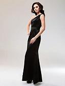 povoljno Haljine za posebne prilike-Sirena kroj Na jedno rame Do poda Saten Celebrity Style Formalna večer Haljina s Kristalni detalji po TS Couture®