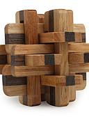 ieftine Maieu & Tricouri Bărbați-Cuburi Magice Puzzle Lemn Jocuri IQ nivel profesional Viteză De lemn 12pcs Clasic & Fără Vârstă Băieți Cadou