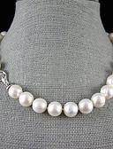 preiswerte Damen Nachtwäsche-Damen Perle Y Halskette / Perlenkette - Perle, Sterling Silber Blume Weiß Modische Halsketten Für Hochzeit, Party, Jahrestag / Verlobung / Geschenk / Alltag