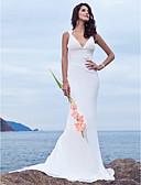 povoljno Vjenčanice-Sirena kroj Presvlačenje dekoltea Jako kratki šlep Šifon Izrađene su mjere za vjenčanja s Perlica po LAN TING BRIDE®