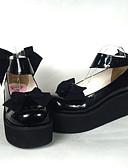 hesapli Korseler-Ayakkabılar Sweet Lolita Sweet Lolita Prenses Yüksek Topuk Ayakkabılar Fiyonk Düğüm 6.5 CM Uyumluluk PU Deri/Poliüretan Deri Poliüretan