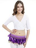 hesapli Göbek Dansı Giysileri-Göbek Dansı Üstler Kadın's Eğitim Kristal Pamuk Yarım Kol / Yoga